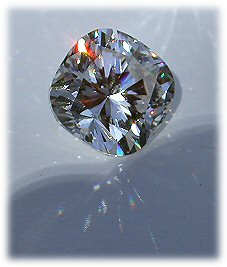 cushion cut Asha simulated diamond