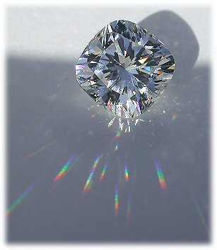 Asha simulated diamond, cushion cut