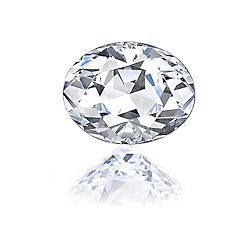 Asha oval diamond simulant