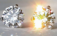 Martini Platinum Fake Diamond Stud Earrings
