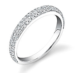 Micropave Cathedral Wedding Band