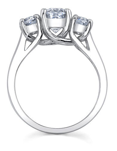 Trellis oval ring side