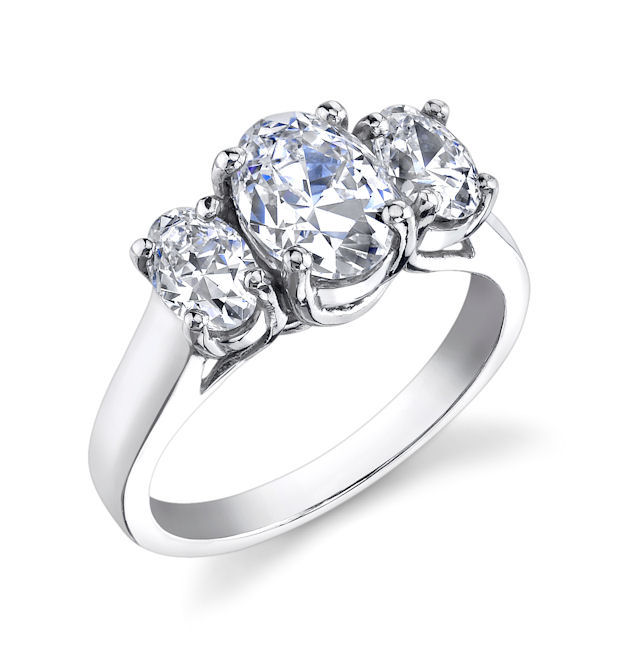 Trellis oval asha ring